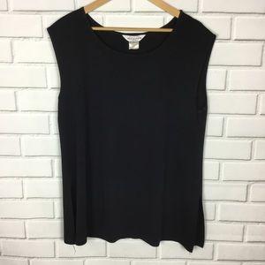 Exclusively Misook sleeveless black blouse